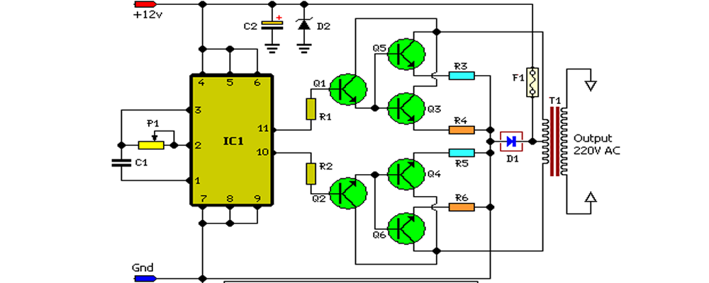 Inverters ups circuit diagram cheapraybanclubmaster Image collections